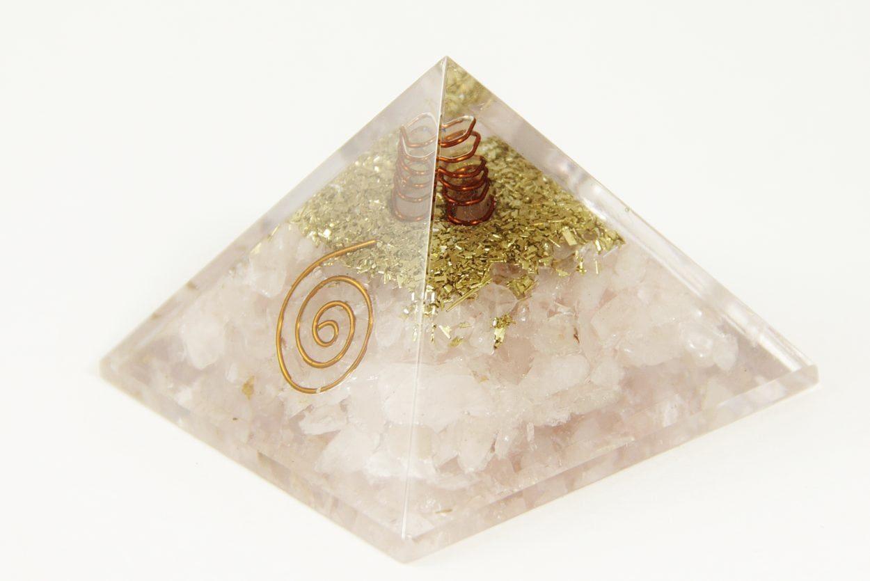 Crystal Dreams Orgonite Pyramid - Rose Quartz
