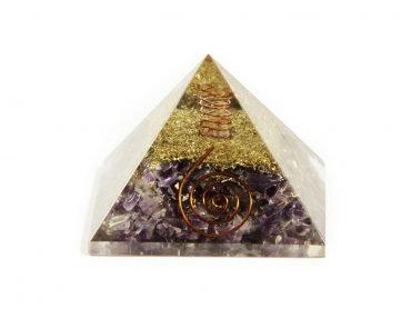 Amethyst orgonite pyramid