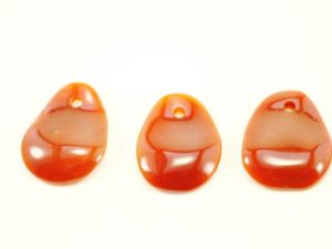 Carnelian Crystal Necklace - Pendant - Dog Tag - Jewelry