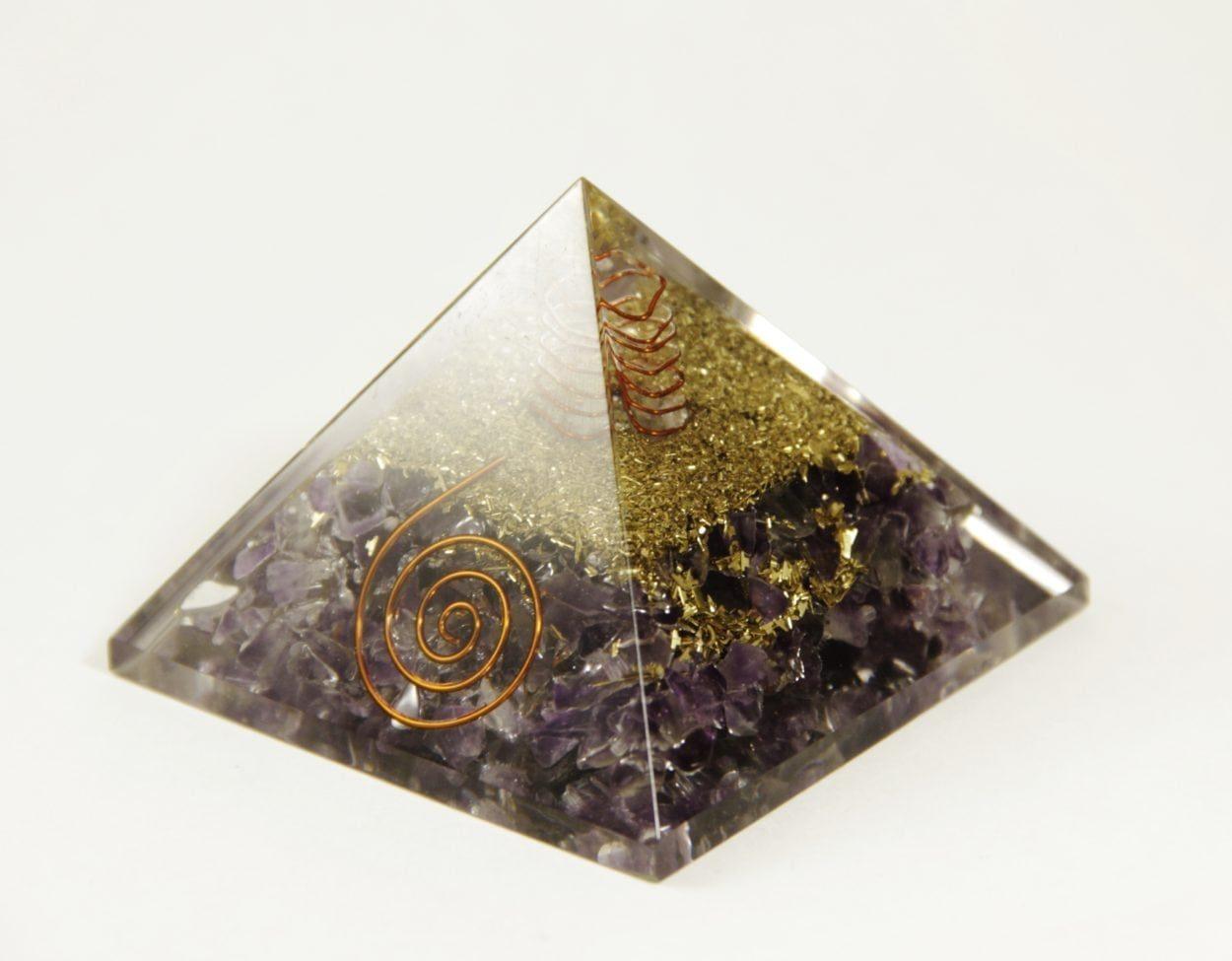 Crystal Dreams Orgonite Pyramid - Amethyst