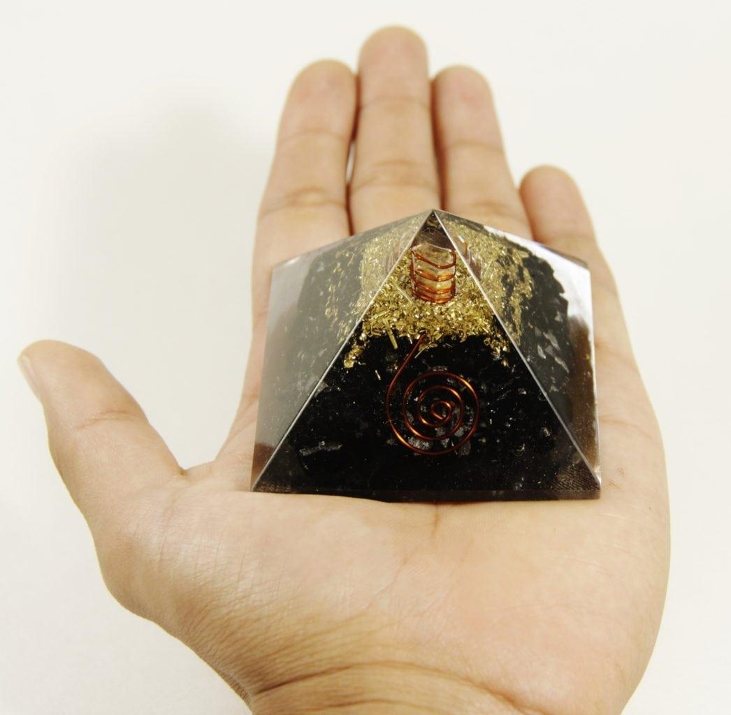 Crystal Dreams Orgonite Pyramid - Black Tourmaline