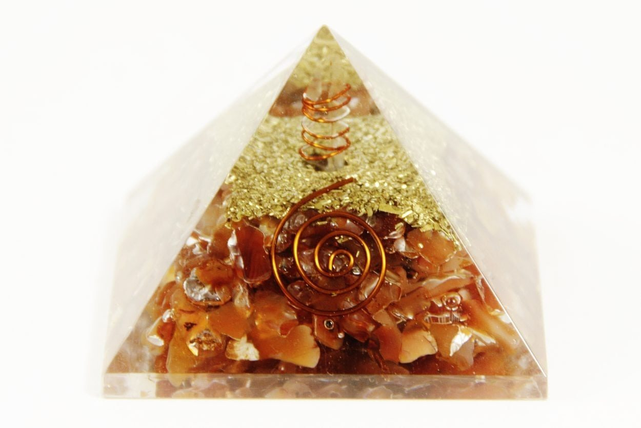 Crystal Dreams Orgonite Pyramid - Carnelian