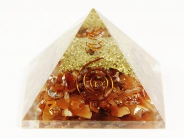 Crystal Dreams Orgonite Pyramid - Carnelian-Crystal Dreams