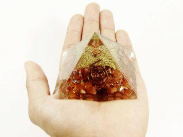Crystal Dreams Orgonite Pyramid - Carnelian-Crystal Dreams