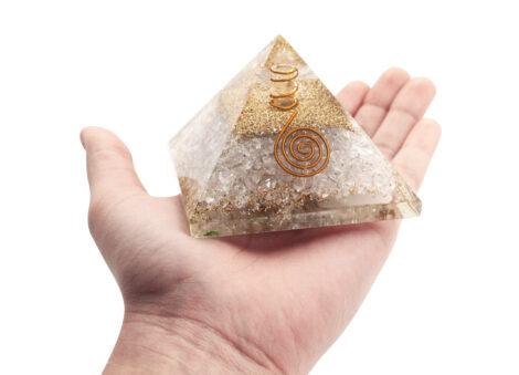 Orgone pyramid Clear Quartz (L) - Crystal Dreams