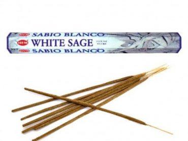 """Emballage d'encens """"HEM"""" de haute qualité de 20 bâtonnets - Sauge blanche"""