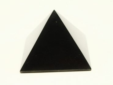 Crystal Dreams Small Polished Shungite Crystal Pyramid 100% Natural