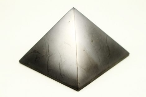 Crystal Dreams Polished Shungite Crystal Pyramid 100% Natural
