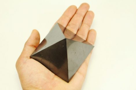 Crystal Dreams Polished Shungite Crystal Pyramid 100% Natural 1