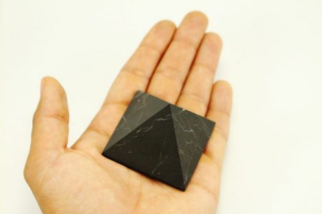 Crystal Dreams Unpolished Shungite Crystal Pyramid 100% natural
