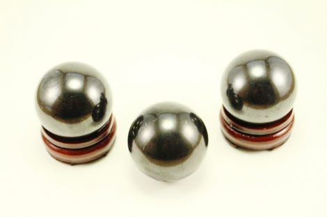 Crystal Dreams Polished Shungite Crystal Spheres With Wooden Base Included -100% Natural 2