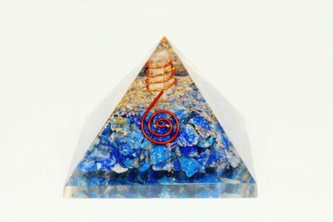 Crystal Dreams Orgonite Pyramid - Lapis Lazuli