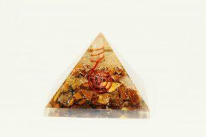 Crystal Dreams Orgonite Pyramid - Tiger Eye 3
