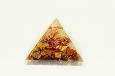 Crystal Dreams Orgonite Pyramid - Tiger Eye 3