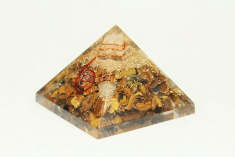 Crystal Dreams Orgonite Pyramid - Tiger Eye