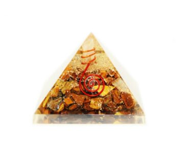 Tiger Eye Orgone Pyramid (L) - Crystal Dreams
