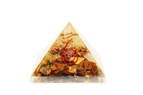 Tiger Eye Orgone Pyramid (L) - Crystal Dreams