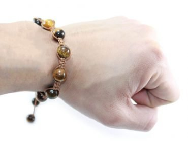Adjustable Tiger Eye Bracelet (8 mm or 10 mm) - Crystal Dreams