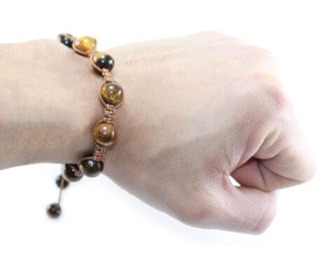 Adjustable Tiger Eye Bracelet (8 mm or 10 mm) - Crystal Dreams