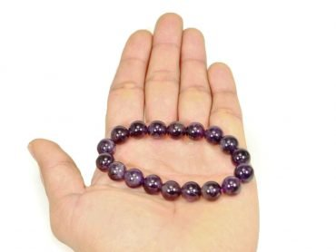 Amethyst Bracelet (10 mm, 8 mm or 6mm) - Crystal Dreams