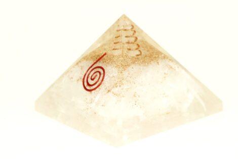 Crystal Dreams Orgonite Pyramid - Selenite
