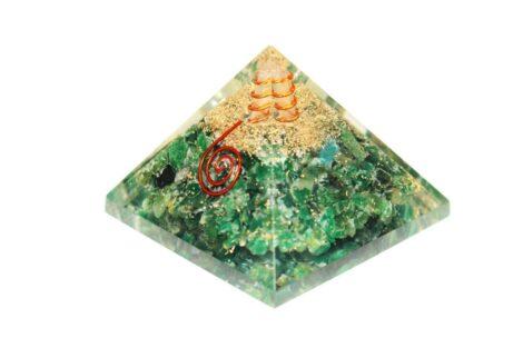 Crystal Dreams Orgonite Pyramid - Green Jade