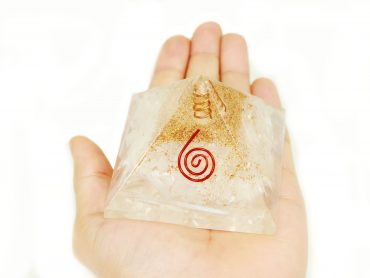 Selenite Orgone Pyramid - Crystal Dreams
