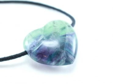 Rainbow Fluorite Heart Pendant - Crystal Dreams