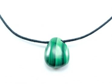 Crystal Dreams Necklace With Malachite Crystal Pendant
