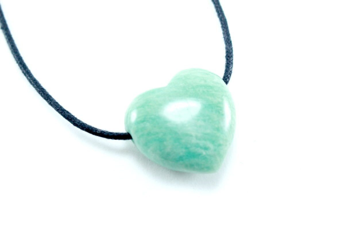 Crystal Dreams Necklace With Amazonite Crystal Heart Pendant