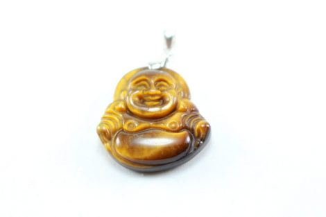 Crystal Dreams Sterling Silver & Tiger Eye Buddha Pendant