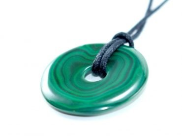 Crystal Dreams Necklace With Malachite Crystal Doughnut Pendant