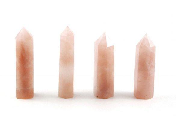 Crystal Dreams Rose Quartz Crystal Prisms / Points