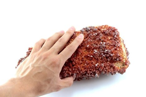 Crystal Dreams Large High Quality Vanadinite Geode- Natural Crystal Cluster XXL