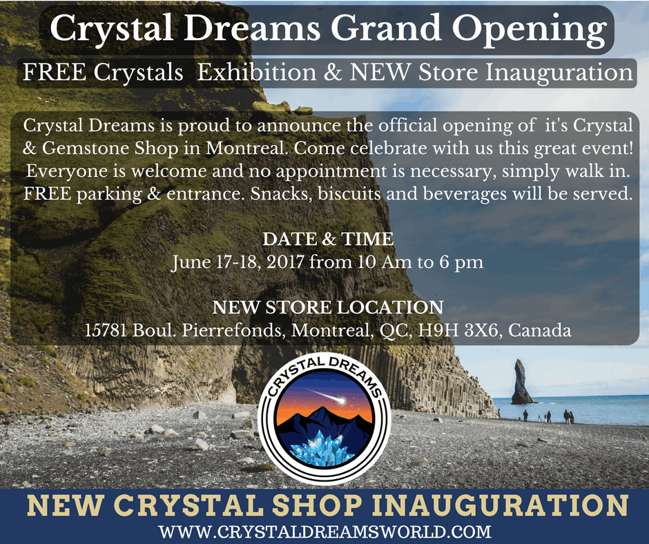 Crystal Dreams Grand Opening. We will Now Be Selling In Store