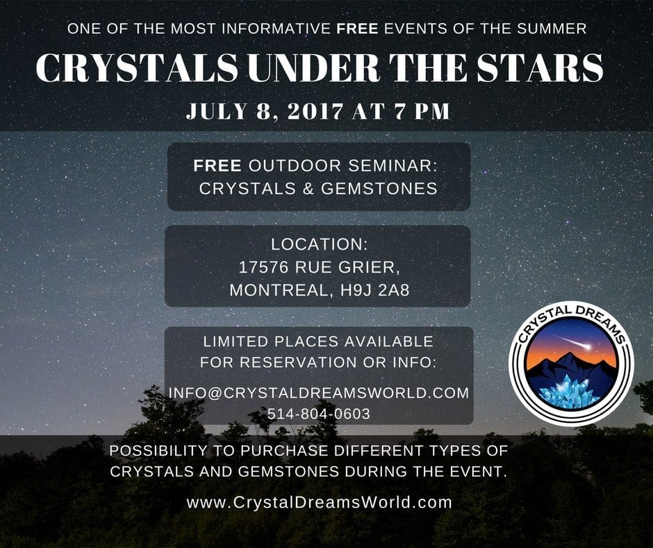 Crystals Under The Stars: FREE Seminar In Montreal