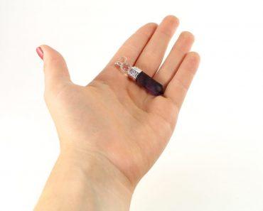 Crystal Dreams 100% Authentic Amethyst Gemstone Pendant With Clear Quartz Amplifier