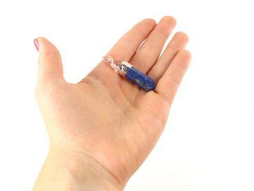 Crystal Dreams 100% Authentic Lapis Lazuli Gemstone Pendant With Clear Quartz Amplifier