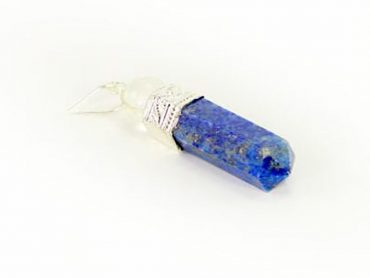 Crystal Dreams 100% Authentic Lapis Lazuli Gemstone Pendant With Clear Quartz Amplifier