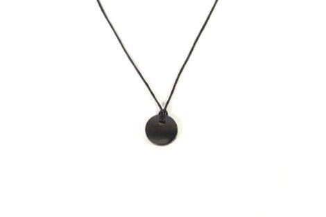Shungite Circle - pendant 2 cm (S) - Crystal Dreams
