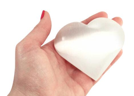 Large Selenite Heart - Crystal Dreams