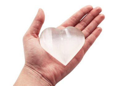 Medium Selenite Heart - Crystal Dreams