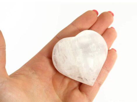 Crystal Dreams Selenite Heart