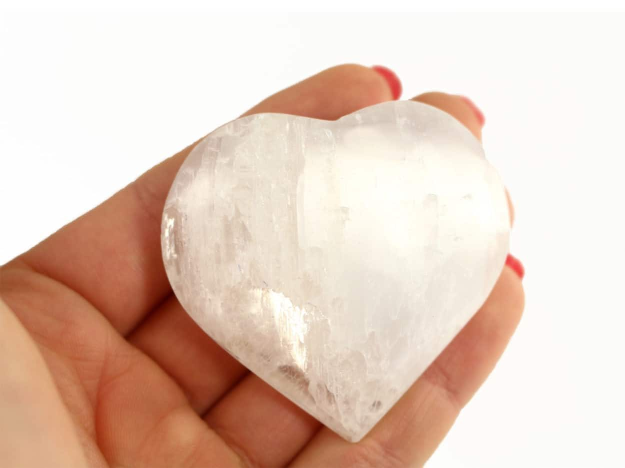 Crystal Dreams Selenite Heart
