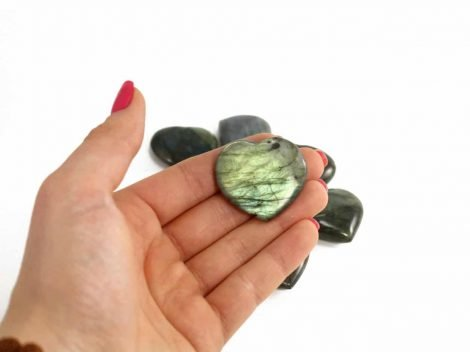 Crystal Dreams Labradorite Heart