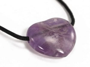 Crystal Dreams Necklace With Amethyst Crystal Heart Pendant. Come and Visit us and Get One of Your Own