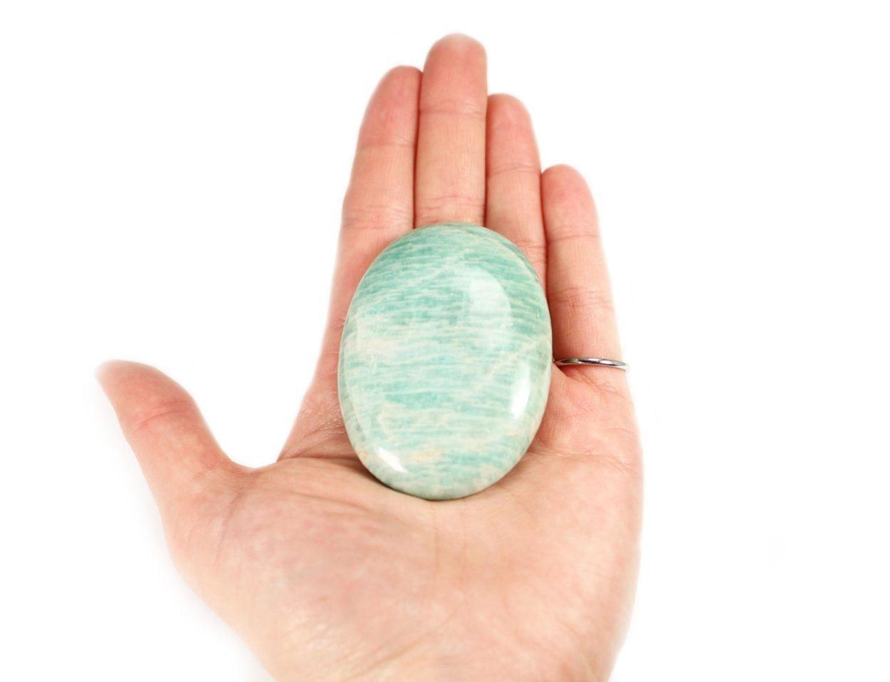 Crystal Dreams Amazonite Palm Stone