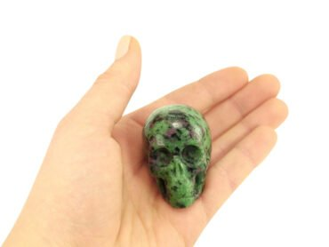 Ruby Zoisite Skull - Crystal Dreams