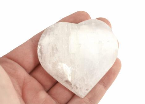 Medium Selenite Heart - Crystal Dreams