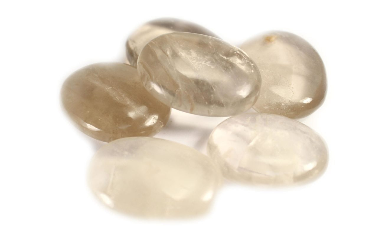 Crystal Dreams Smokey Quartz Palm Stone.